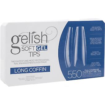 Gelish Soft Gel False Nail Tips - Long Coffin (Pack Of 550 & 11 Sizes) (1168096)