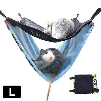 Kaksikerroksinen hengittävä verkko roikkuu sänky pesä pieni lemmikki