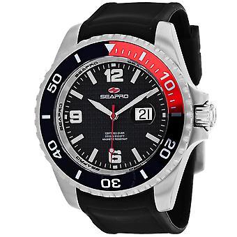 Seapro Abyss 2000M Diver Watch Quartz Black Dial Men's Watch SP0740