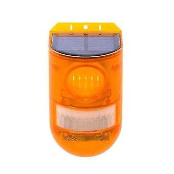 Solar Alarm Light Wireless Pir Motion Sensor Garden Security Outdoor Waterproof
