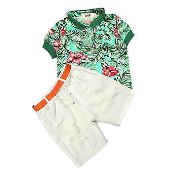 Fashion Suit Short Sleeve & Short Cardigan Coat