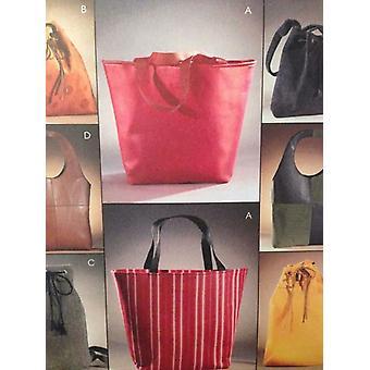 McCalls ompelu kuvio 3772 Viisi vuorattu käsilaukut leikkaamattomat tarvikkeet Muoti