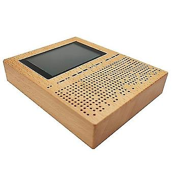 3,5 Zoll LCD-Bildschirm digitaler Signalempfänger sdr Radio Malachit Malahit dsp sdr Empfänger Holz Shell Bass Lautsprecher