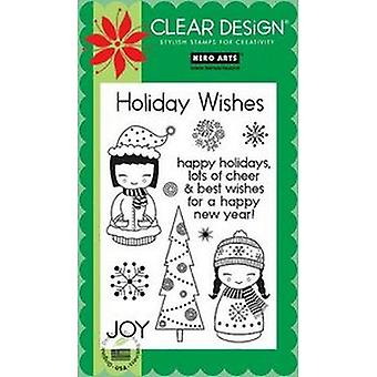 Hero Arts Clear Design: Holiday Dolls Clear Stamp