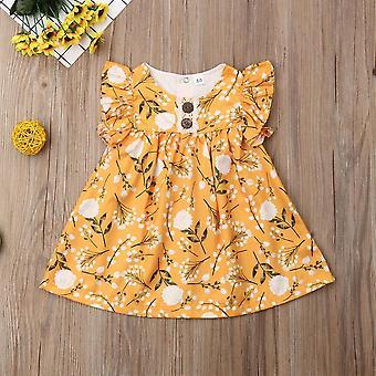 Детские Летний Цветок Печатное платье, Принцесса партия Туту платья