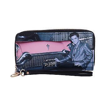 Elvis Presley Cadillac Zip Around Clutch Purse