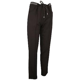 Passioni Black Relaxed Fit Sports Look Soft Jersey Joggers