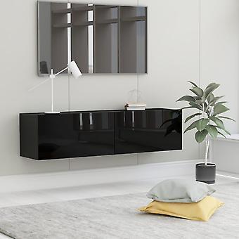 vidaXL armoire TV brillant noir 120 x 30 x 30 cm panneau de particules