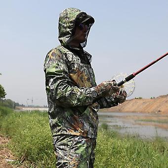 Traje de camuflaje biónico, traje de pesca anti-mosquito, juego de pantalones de chaqueta