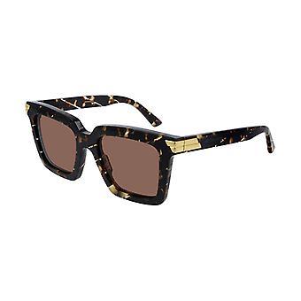 Bottega Veneta BV1005S 007 Brown-Tortoise/Brown Sunglasses