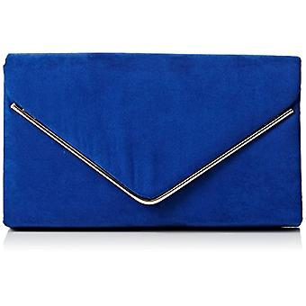 SwankySwans - Women's clutch bag with Oscar bag in suede, for parties and dances, Blue (Royal Blue.), One Size