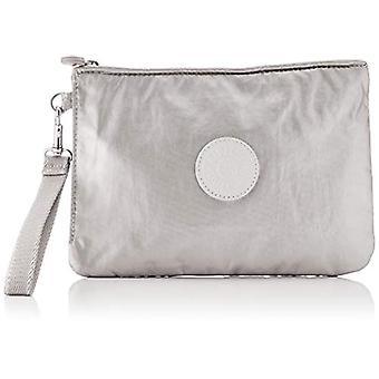 Kipling ELLETTRONICO Casual Backpack, 24 cm, 2 Liters, Silver (Metallic Glow)