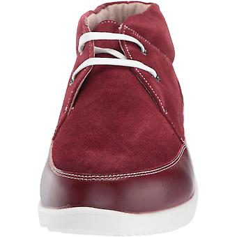 STACY ADAMS Men's Buckley Moc Toe Lace-Up Chukka Boot Sneaker, red, 8.5 M US