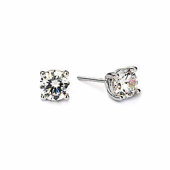 Boucles d'oreilles en cristal /diamant d'avril - Bijoux cadeaux pour femmes de Lu Bella