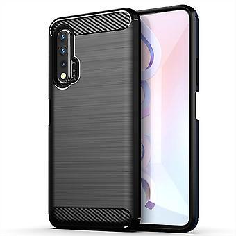 Tpu carbon fibre case for huawei nova 6se black mfkj-338