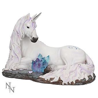 Statua dell'unicorno della tranquillità ingioiellata