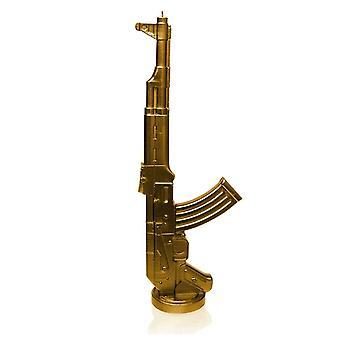 Kultainen Kalashnikov kynttilä