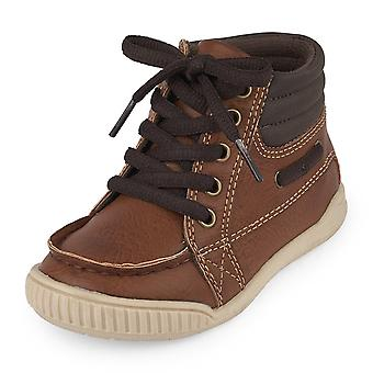 The Children's Place Kids' Sneaker,Tan-TB Mid Turbo,10 M US Toddler