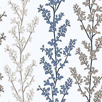 Tempo Branch Blue Wallpaper