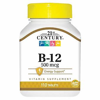21st Århundre Vitamin B-12, 500mcg, 110 Faner