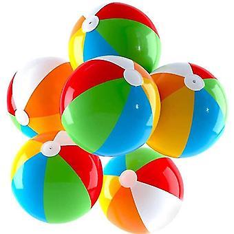13.6 in opblaasbare strandballen 6 pack, regenboog strand bal zwembad speelgoed