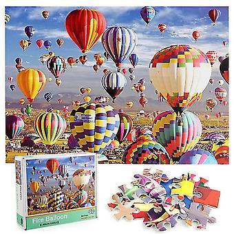 1000Pcs Decompression Jigsaw Educational Puzzles Toys,Fire balloon Jigsaw