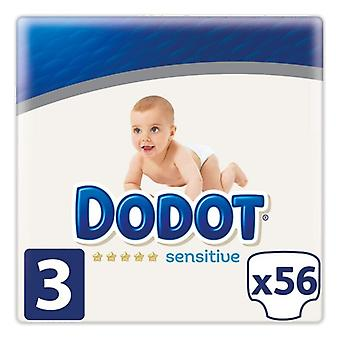 Disposable nappies Sensitive Dodot Size 3 (56 uds)