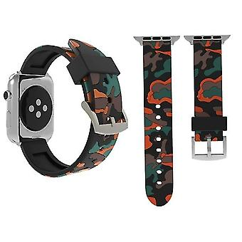 Camouflage Mode Silicone Watch band for Apple Watch Series 3 & 2 & 1 38mm red
