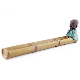 28cm Bamboo Buddha Incense Ash Catcher