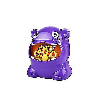 hippo and Frog Bubble Machine With Bubble Maker For Children
