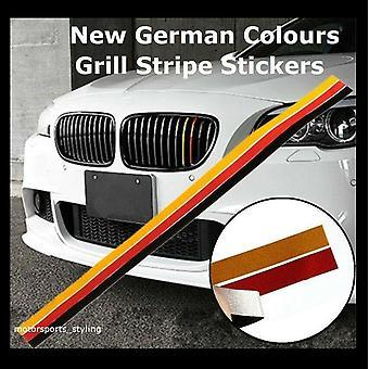 Colores alemanes Bandera BMW Riñón Grill Rayas Pegatina Vinilo Calcomanía Alemania Coche ggs