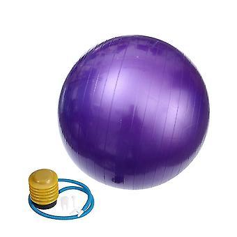 الأرجواني 85cm ممارسة كرة اليوغا المضادة للانفجار زلة أداة اللياقة البدنية الكرة المقاومة لتوازن بيلاتس العمل بها lc380