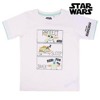 Child's Short Sleeve T-Shirt The Mandalorian White