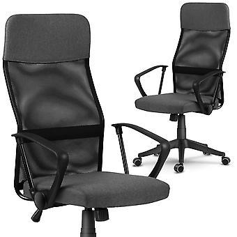 Cadeira de escritório ajustável – Micro malha – Cinza escuro