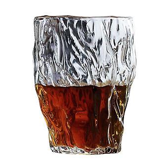 1pcs Japanische irreguläre Hammer Art Whisky Tumbler Glas Altmodisches Kunstwerk Handgemachte Whisky Tasse
