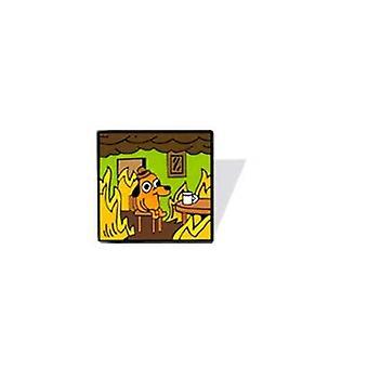 Acrylic Enamel Pins Cartoon Dog Brooch