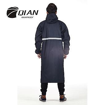 Qian-men's And Women's Long Waterproof Raincoat, Single-layer Windbreaker, Cloak, Dress