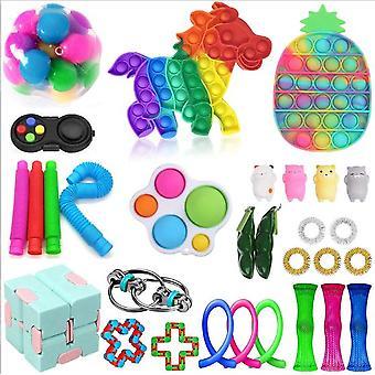 Sensory Decompression Toy Set Puzzle Diy Combination Toys -31