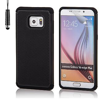 Shock proof case for Samsung Galaxy S6 Edge+ (S6 Edge Plus) including stylus - Black