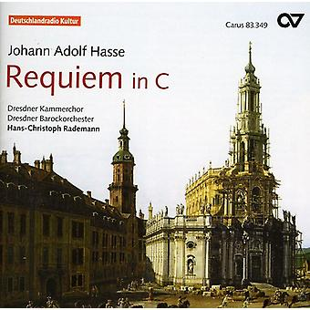 J.a. Hasse - Johann Adolf Hasse: Requiem in C [CD] USA import
