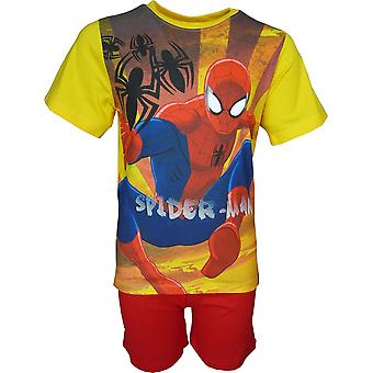 Marvel Spiderman jungen Pyjama Set Kurzarm