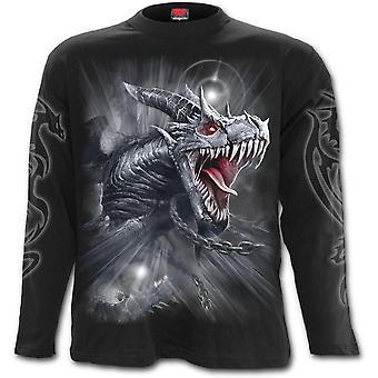 Spiral-dragon's Cry-Miesten pitkähihainen t-paita-musta