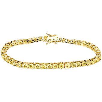 Jäätyä pois bling laadukkaita strap - KANARIAN GOLD 1 rivi 4mm