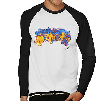 Pink Floyd Ruskin Park schießen Floral blau 1967 schwarz Herren Baseball T-Shirt Langarm