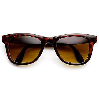 Klassisk hopfällbar kompakt ficka uppfällbart Horn kantad solglasögon