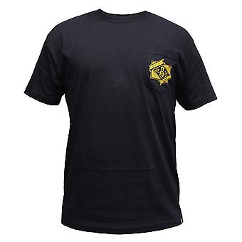 Rebel8 Branded Pocket T-shirt Navy