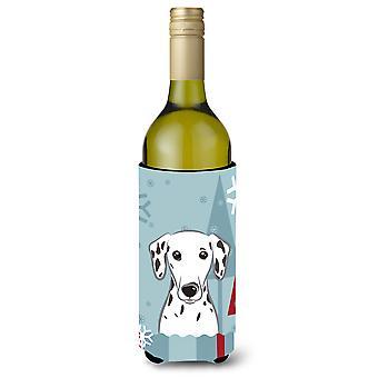Winterurlaub dalmatinischen Wein Flasche Getränk Isolator Hugger