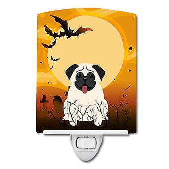 Carolines schatten BB4270CNL Halloween Pug crème keramische nachtlampje