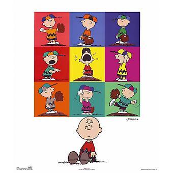 Jordnötter Charlie Brown Baseball affisch Skriv av Charles Schulz (16 x 20)