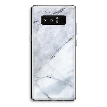 Samsung Galaxy Note 8 gjennomsiktig Case (myk) - marmor hvit